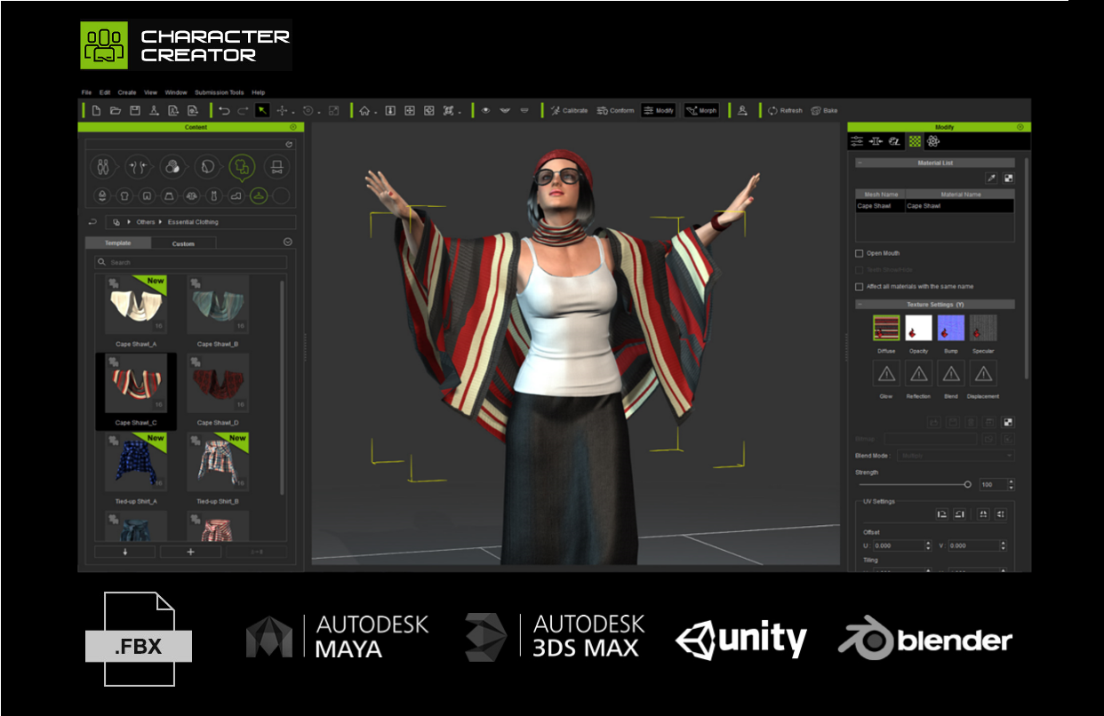 Import any 3d clothing design for universal real time for 3d building creator