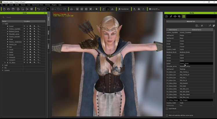 How to export Character Creator 3 Base Characters to Unity
